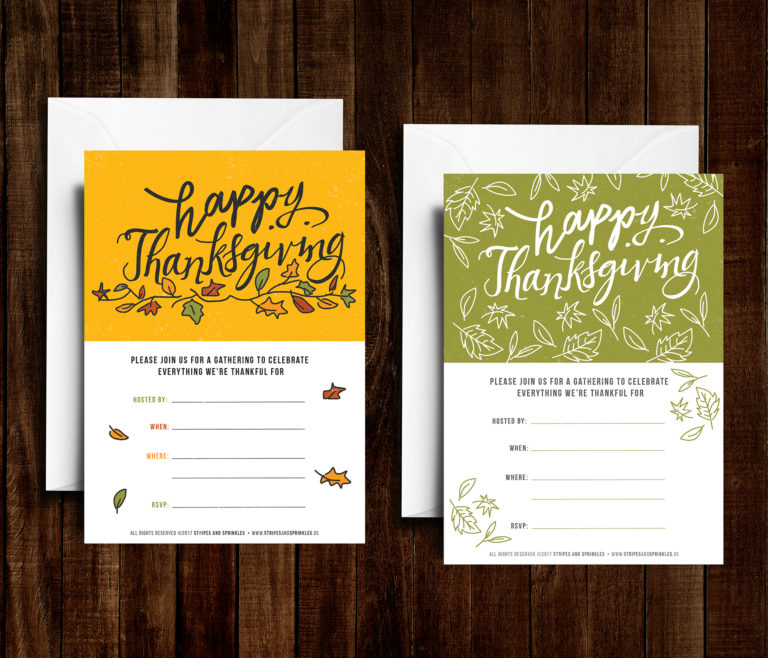 free thanksgiving invitation printables