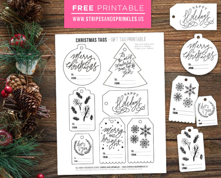 download free christmas tags